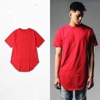 Men arc printing - Down Arc Style T shirt Kanye west Skateboard Brand Clothing solid Cotton Hip Hop long tee Bigbang GD Justin bieber Kpop