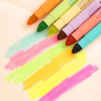 Wholesale P03 X Cute Solid Jelly Highlighter Pen Marker Paintball Water Pen Colored Chalk School Supply Student Sationery