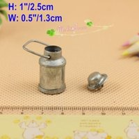 Wholesale 1 Scale Dollhouse Miniatures Milk Can Old Stlye Handmade Doll house accessory