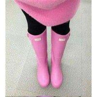 Wholesale 2016 Brand New WOMEN S Rain Boots Hunter Rubber Tall Height Waterproof Wellies Rainboots Water Shoes medium height hunter boots