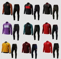 Wholesale 2016 Full Zipper AC Milan Suit Soccer Jacket Tracksuit Football Black Milan New Men Adults Juve chandal giacca tuta survetement