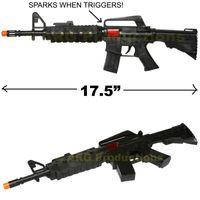 assault rifle guns - 17 quot CAR CARBINE M TOY ASSAULT RIFLE KID BOY MACHINE RAT TAT TAT GUN SOUND