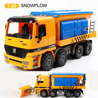 Wholesale 1 scale high quality performance snowplow inertia truck friction car model friction power trucks brinquedos kids toys gift juguetes