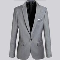 best work jacket - High quality men suits jacket solid color work business suits jacket single breasted custom groom best man dress jacket