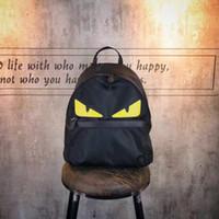 Wholesale 2017 Black Bag Women Designer Fashion Cheap fashion Backpack little monsters minimalist large capacity bag s leisure travel Nylon backpack