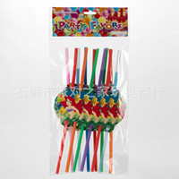 Wholesale Children s birthday party drinks one time environmental art straw straw mermaid pattern