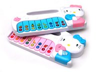 Wholesale Hello Kitty light music keyboard instruments toys boys and girls gifts toys Toy Musical Instrument