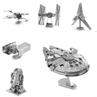 Wholesale Fascinations Metal Earth D Laser Cut Model Star Wars The Force Awakens d Metal Nano Puzzle Model Building Toy for Adult and Kids