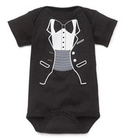 baby tuxedo bodysuit - Baby Rompers Clothes Shortall Tuxedo Kids Clothing Boys Bodysuit Children One piece Girls Romper Outfits Cotton Coverall DHL