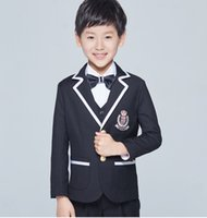 Wholesale CHENLVXIE Fashion Elegant Honorable Kid Boy s Worsted Red Color Regular Special wedding Boys Attire Suits Boy WE003