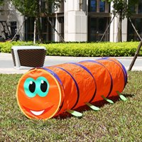 baby play tunnel - Children s Tent Caterpillar Crawling Animal Tunnel Baby Puzzle Toys Indoor and Outdoor Kids Play Tent Christmas Birthday Gift