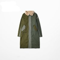 Wholesale Good Quality Winter Mens Extended Warm Jackets Hip Hop Autumn Fashion Patchwork Wool Trench Coats
