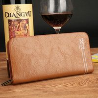 Cheap Wallets PU Leather Wallet Best Men Credit Card Brown leahter Wallet