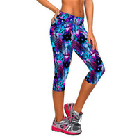 Mid black leggins - Women Leggings Capris Printed Black Milk Clzas deportivas mujer Capri Summer Leggins