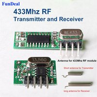 Wholesale Mhz Superheterodyne RF Receiver and Transmitter Module ASK kits with antenna For Arduino Diy Mhz Remote control