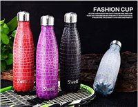 Wholesale Hot Swell Coke bottle Creative Insulation Cup With High Grad Stainless Steel Vacuum Bottle Star Coffee Cup water cup kettle with Free Brushe