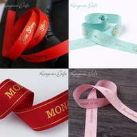 Wholesale 10mm mm personalized ribbon brand logo grosgrain ribbon party decoration christmas birthday packaging yards