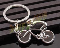 advertising bicycle - new creative metal Sporty man Road bicycle figure keychain keyring souvenirs bike Cycling biker advertising party gift keychain