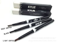 Wholesale Kylie Eye Brow Waterproof Pencil Double ended with Brush in Eyebrow Pencil KYLIE Jenner Color