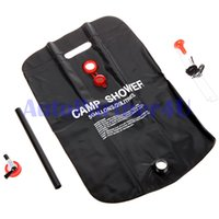 Wholesale outdoor solar shower bag L camping washer Heated water traveling bathing bag offroad accessories HL x4 parts