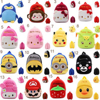 baby gift bags wholesale - More Styles baby Kid s boys girls D Backpacks Cute Cartoon schoolbags plush bags stuff dolls bag children Gift Despicable Me Minions Bag