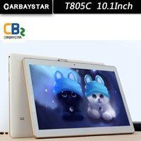 Venta al por mayor-10.1 pulgadas T805C Tablet ordenador PC de la tableta CARBAYSTAR Octa Core MT6592 tableta Android IPS pantalla GPS androide 64 GB de la computadora