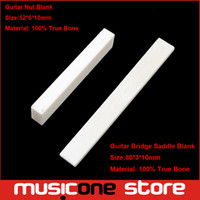 bass guitar bridge - 2Pcs Bone Guitar Bridge Nuts And Saddle Blank For Electric Bass Acoustic Classical Guitar Mandolin Banjo Ukulele Nut Blank x6x10 x3x10