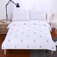 anchor textiles - SleepWish Anchors Bedding Set Plain Printed Bedlinen Soft Home Textiles Twin Full Queen King Bedspread couvre lit Limited