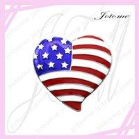 al por mayor perlas de patriotas por mayor-100PCS / Lot venden al por mayor los EEUU patrióticos de la bandera de la bandera y el amortiguador patriótico del grano plateó la joyería plateada los pernos de la broche de los encantos de la manera de la joyería