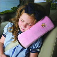Wholesale 2016 new arrival pink Baby Children Safety Strap Car Seat Belts Pillow Shoulder Protection Covers Cushion Support Pillow
