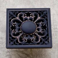 Wholesale Deodorization Drain Toilet Bathroom Floor Drain Antique Copper Washing Machine Black Bronze Deodorant Floor Drain Retail
