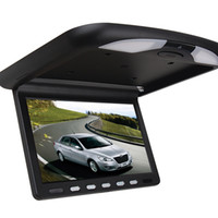 auto tv monitors - Car Video Inch LCD Monitor Super Slim HD Car DVD with Flip Down Roof Mounted monitor IR Emission auto video Players Flip Down monitor