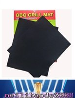 bbq grill sets - BBQ Grill Mat Set of Non Stick Reusable Washable Plate PTFE Coated Telflon Mats MYY