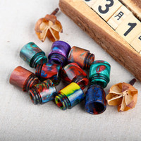 Wholesale TFV12 drip tips newest epoxy resin wide bore drip tip mouthpiece for smok TFV12 TFV8 Kennedy tank DHL free