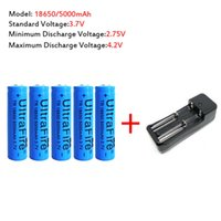Wholesale 5pcs mAh V Li ion Rechargeable Battery Charger For UltraFire LED Flashlight Torch flash light