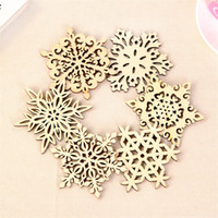 Wholesale Wooden Snowflake Coasters Coffee Cup Mats Soup Pads Carved Hollow Wood Placemat Table Mat Handmade Creative cm