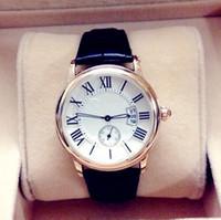 al por mayor mejores marcas reloj-Reloj de lujo 2017 del mejor regalo Los hombres de la manera miran el reloj del cuarzo con el calendario Calibre superior de la marca de fábrica Relojes de pulsera para el reloj de la señora de los hombres