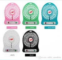 Wholesale F95B Mini Protable Fan Multifunctional USB Rechargerable Kids Table Fan LED Light F95B Multi Color