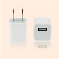 Wholesale Universal A Wall Charger Plug US USB AC Power Adapter for iPhone DHL and fedex