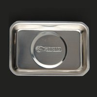Wholesale pc Screw Tray With Magnetic Stainless Steel Circular Rectangle For Automotive Parts Suction Pad Absorb Dish Tools
