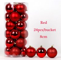 Wholesale Merry Christmas Ball for Xmas Tree Decoration carton balls Hanging Drops with Rope with cm for Bar and Party New Year Ornaments