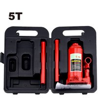 automobile hand tools - 5T hand hydraulic car jack vertical automobile van suv hydraulic jack tire replace useful tool plastic case package light weight