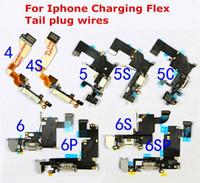 Wholesale iPhone S C S Plus Charging Flex Cables Charging Port Connector USB Charging Dock