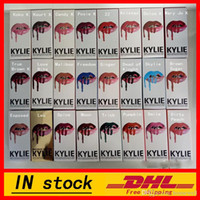 Wholesale In Stock Latest KYLIE JENNER LIP KIT Kylie Lip Velvetine Liquid Matte Lipstick in Red Velvet Makeup Lip Gloss Make Up colors