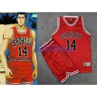 basketball dunk games - Anime Slam Dunk Cosplay Costume SHOHOKU Hisashi Mitsui Red Basketball Jersey and Shorts Sportswear Athletic Team Uniform