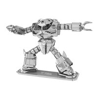 Wholesale Crab Shaped Robot Metal D Puzzle Mecha Robot Stainless Steel Laser Cutting Model Building Kits Children DIY Assembly Jigsaw Toy