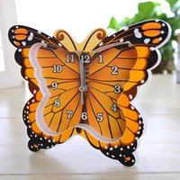 antique butterfly table - Creative Fluttering Butterfly Model Scan ClockHome Decoration Table Clock CR