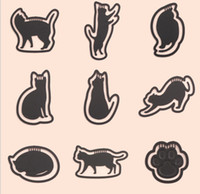 Wholesale Mini Cute Cat Design Bookmarks Metal Hollow out Clips Paper Memo Clip Styles Black Cat New Creative Office Stationery Supplies