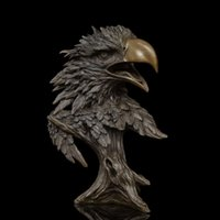 art business careers - Arts Crafts Copper Chinese bronze sculpture falcon figurine EAGLE Statue for home decor wildlife sculpture fengshui business gif