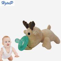 al por mayor historieta de la felpa al por mayor-Chupetes infantiles lindos del silicón del bebé de la historieta Al por mayor-Lovely con el animal doméstico de la felpa no-ToxicTool del bebé de la felpa de los pezones del bebé CR6010